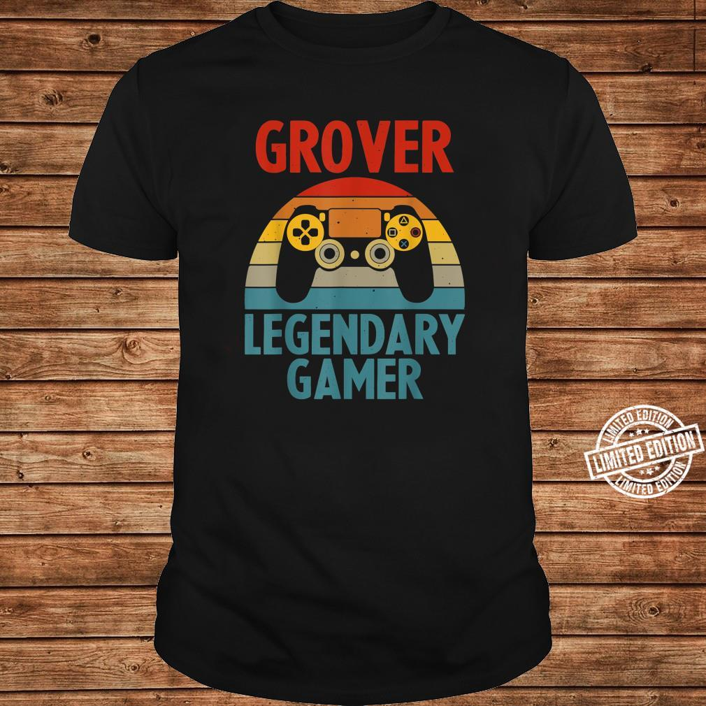GROVER Name Personalized Gaming Geek Birthday Shirt long sleeved