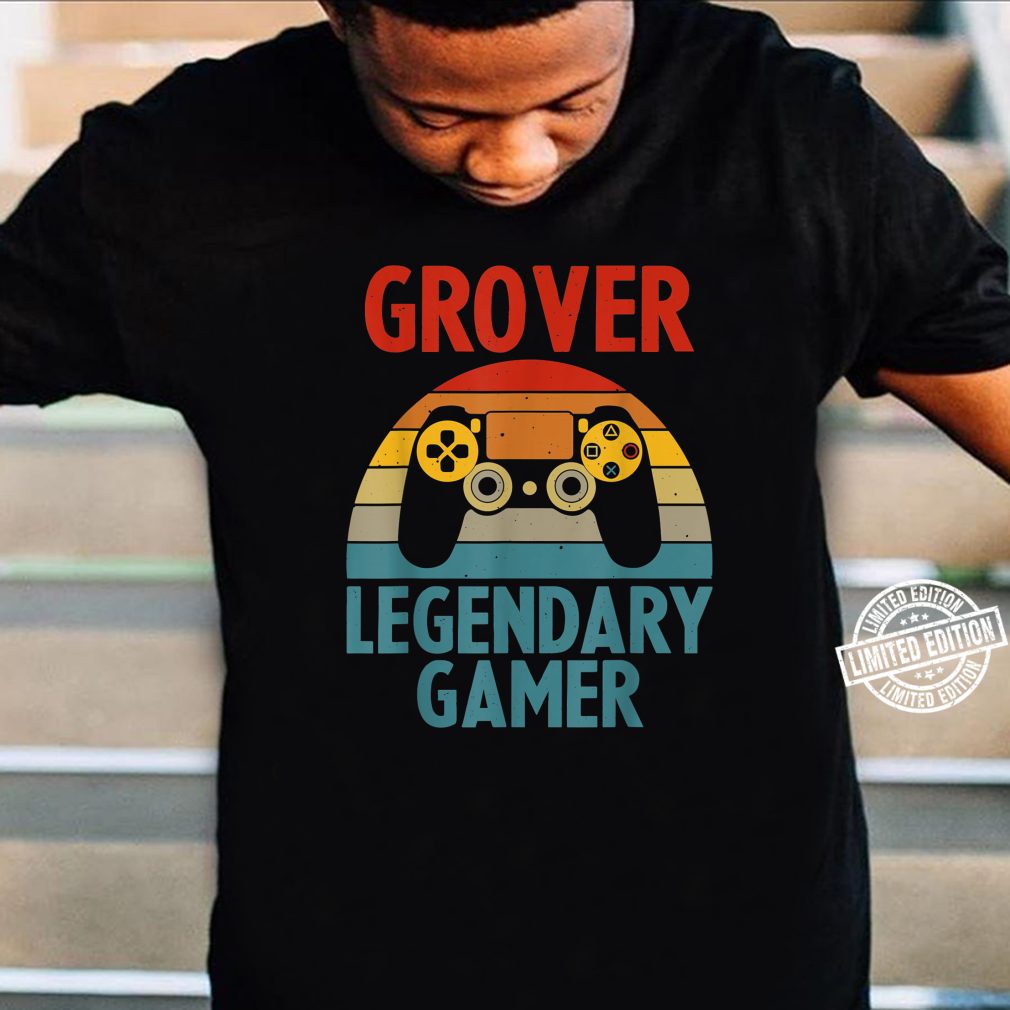 GROVER Name Personalized Gaming Geek Birthday Shirt