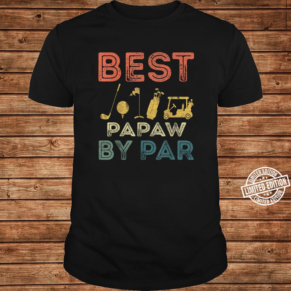 Mens Best Papaw By Par Father's Day Golf Golfing Shirt long sleeved