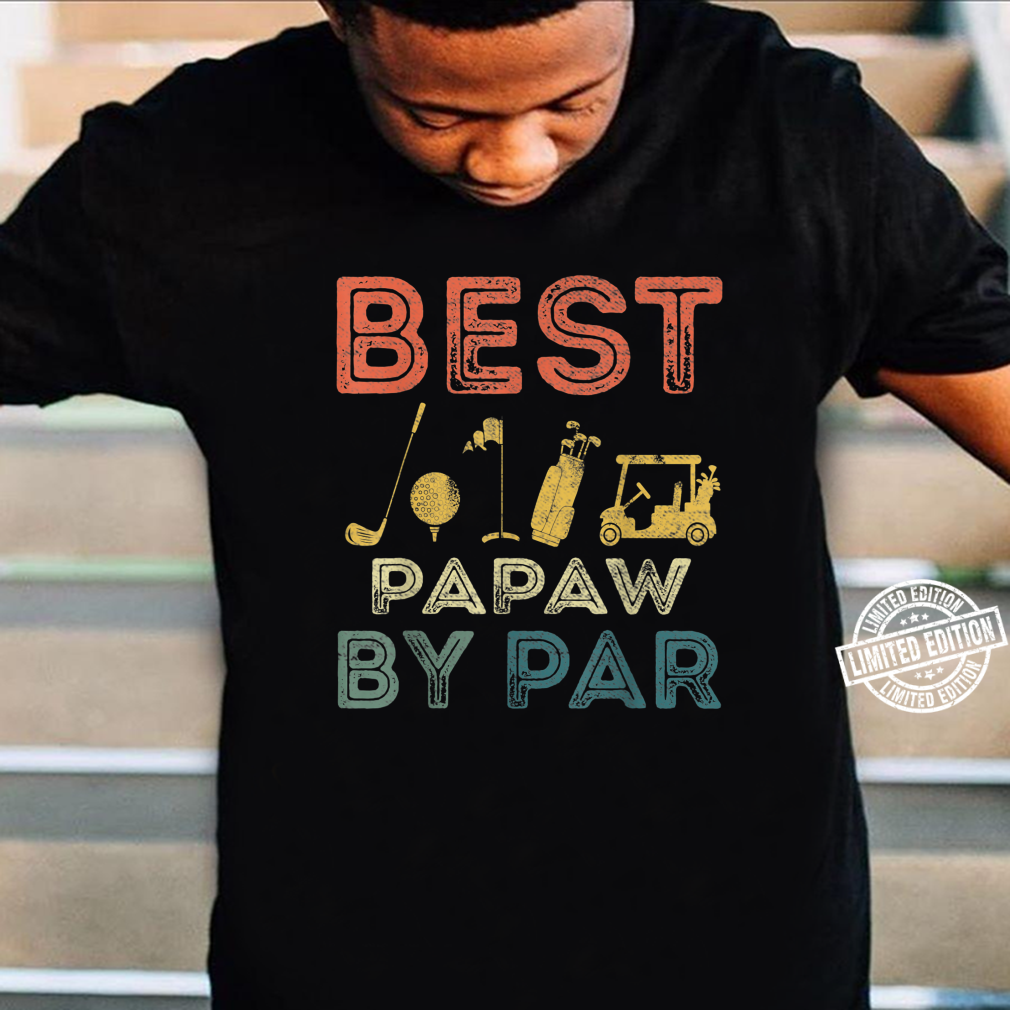 Mens Best Papaw By Par Father's Day Golf Golfing Shirt
