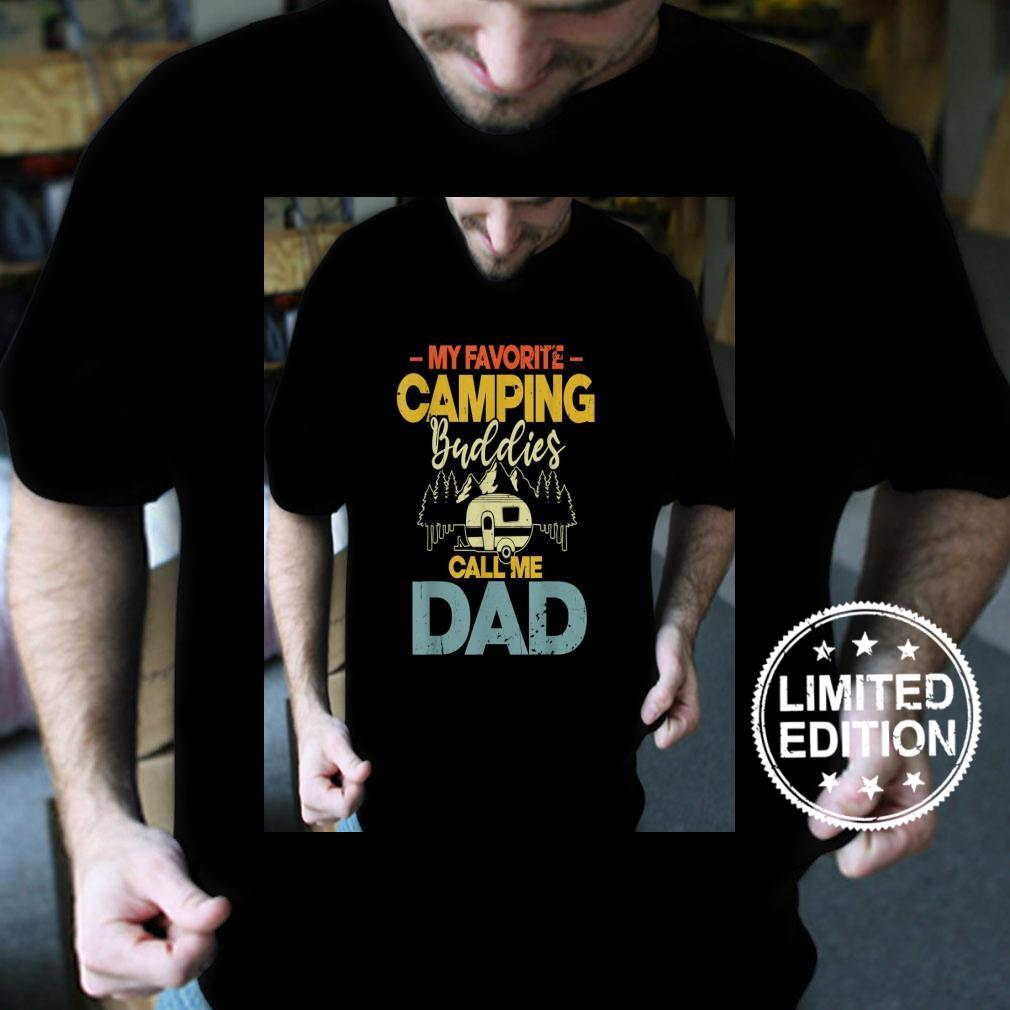 Mens My Favorite Camping Buddies Call Me Dad Fathers Day Shirt