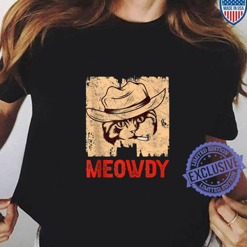 Meowdy Cowboy Cowgirl Hat Country Music Breed Pet Meow Cat Shirt