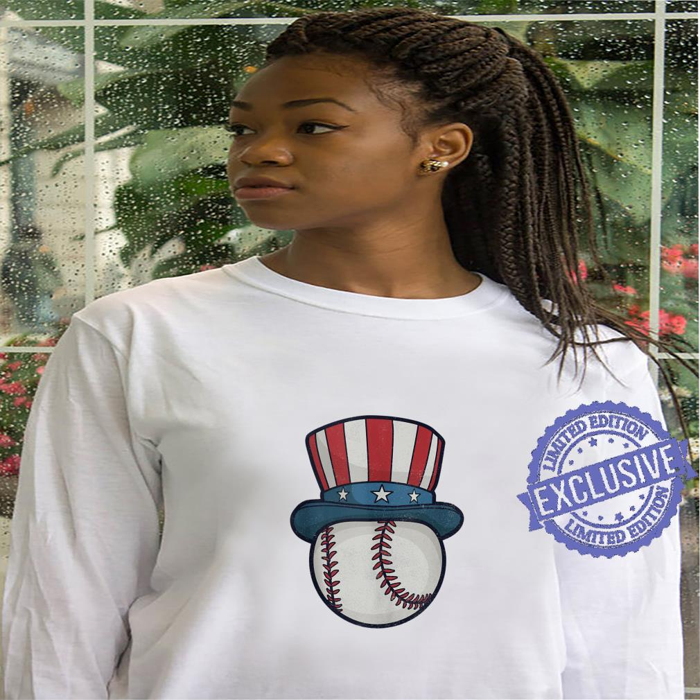 USA Flag Hat Red White and Blue Baseball 4th of July Top Shirt hoodie