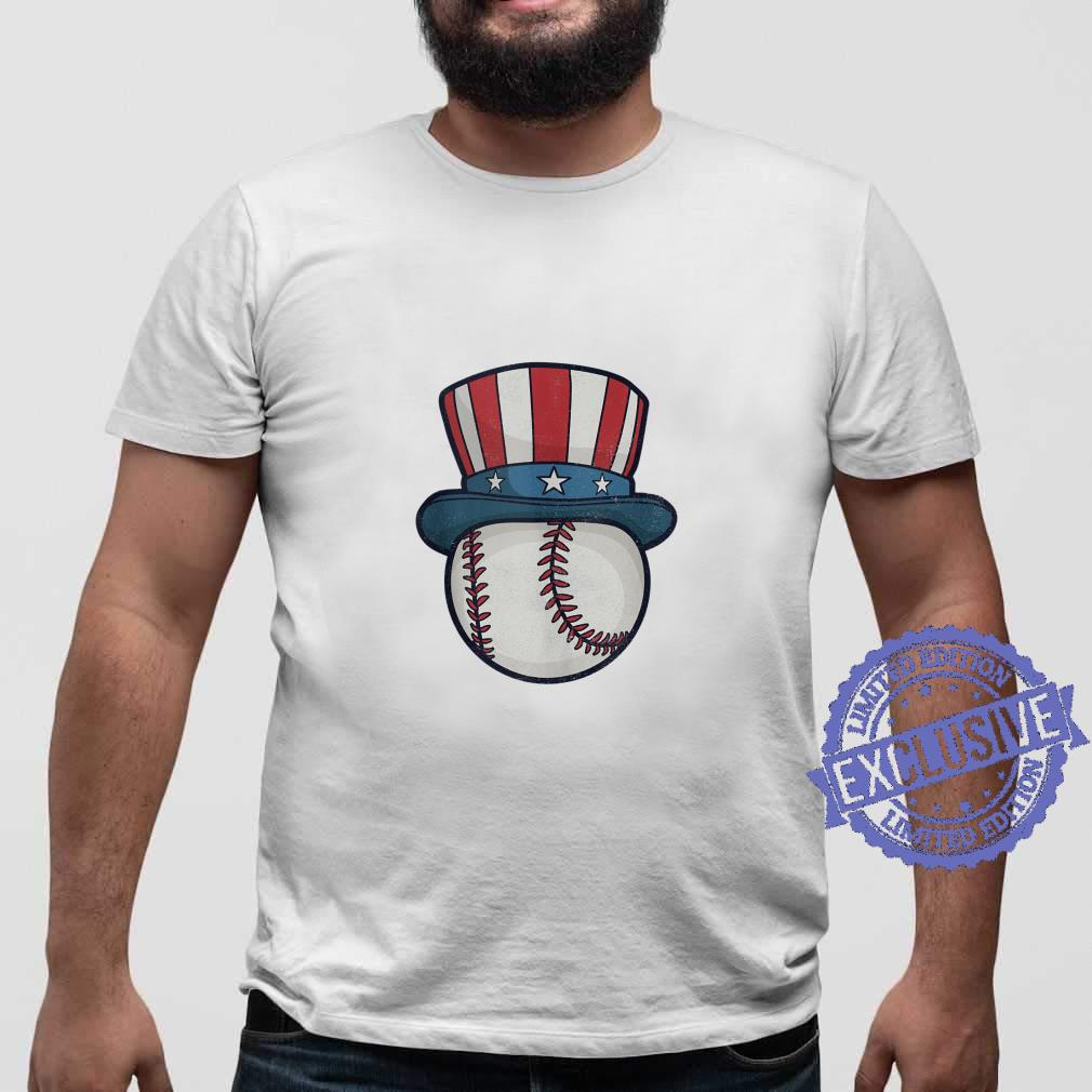 USA Flag Hat Red White and Blue Baseball 4th of July Top Shirt sweater