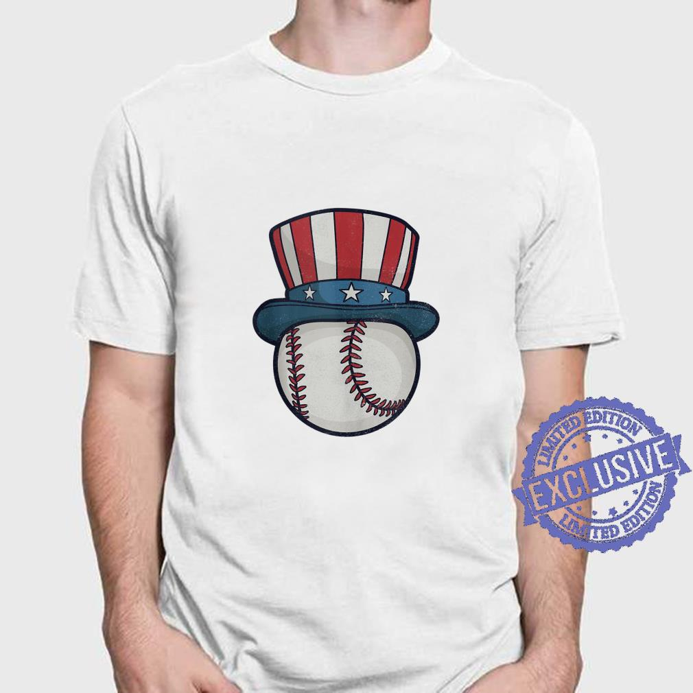 USA Flag Hat Red White and Blue Baseball 4th of July Top Shirt