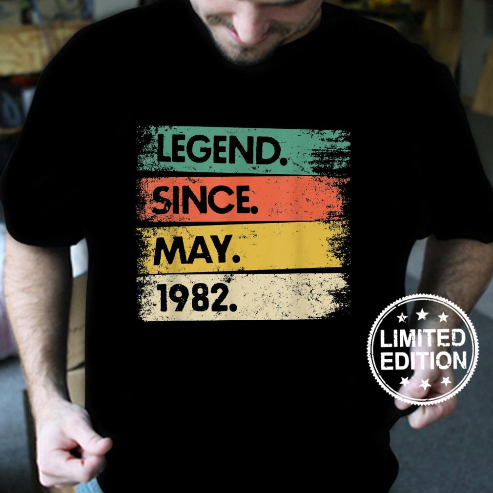 Vintage 39 Years Old 39th Birthday Legend Since May 1982 Shirt