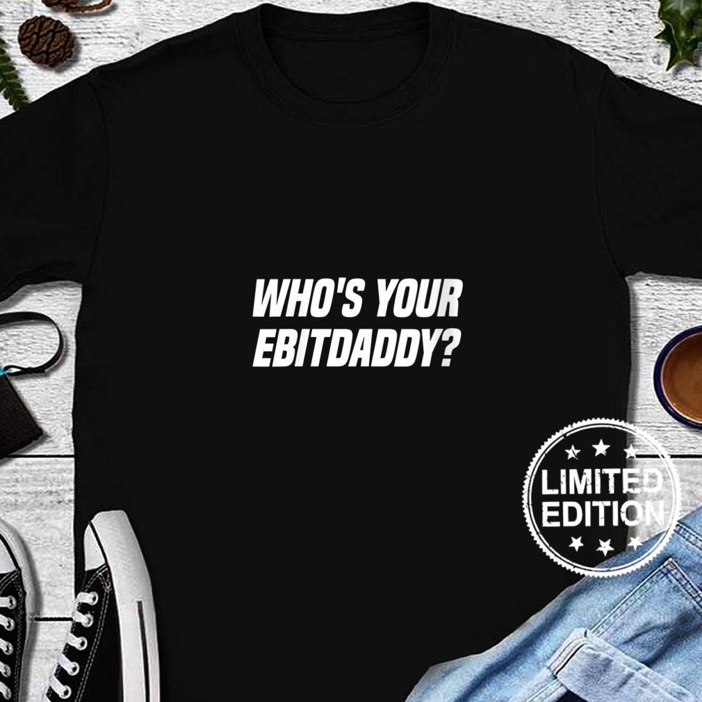 Womens Who's Your EBITDAaddy Bookkeeping Accounting Tax Accountant Shirt long sleeved