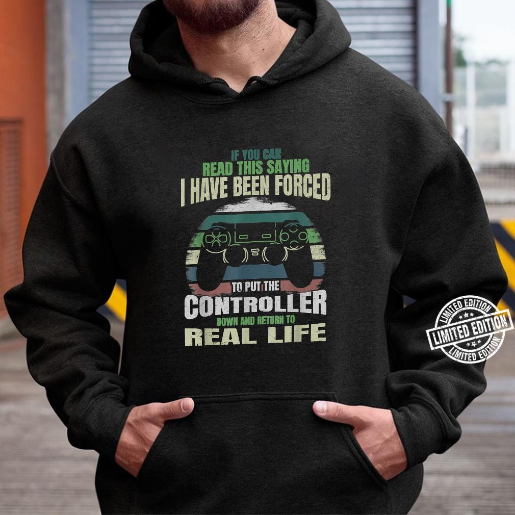 If You Can Read This Saying Nerdy Gamer Gaming Shirt hoodie