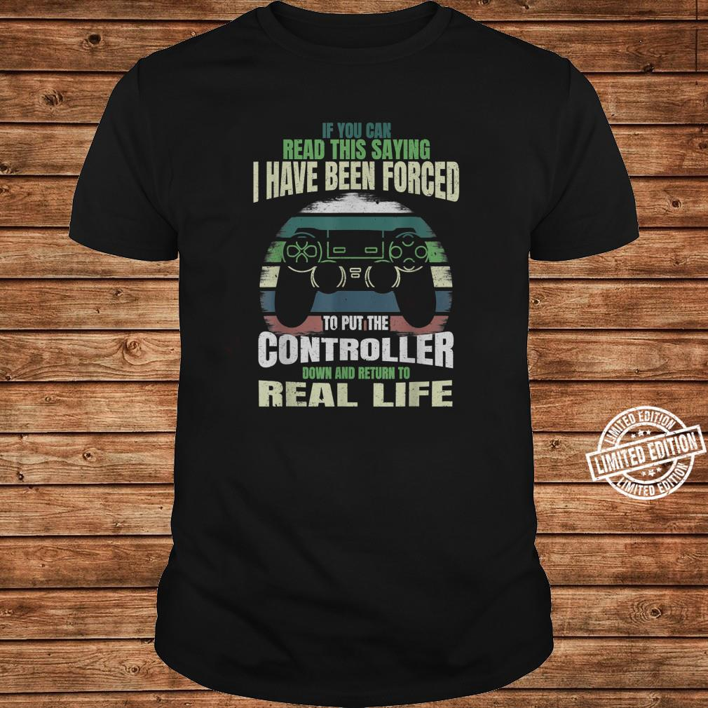 If You Can Read This Saying Nerdy Gamer Gaming Shirt long sleeved