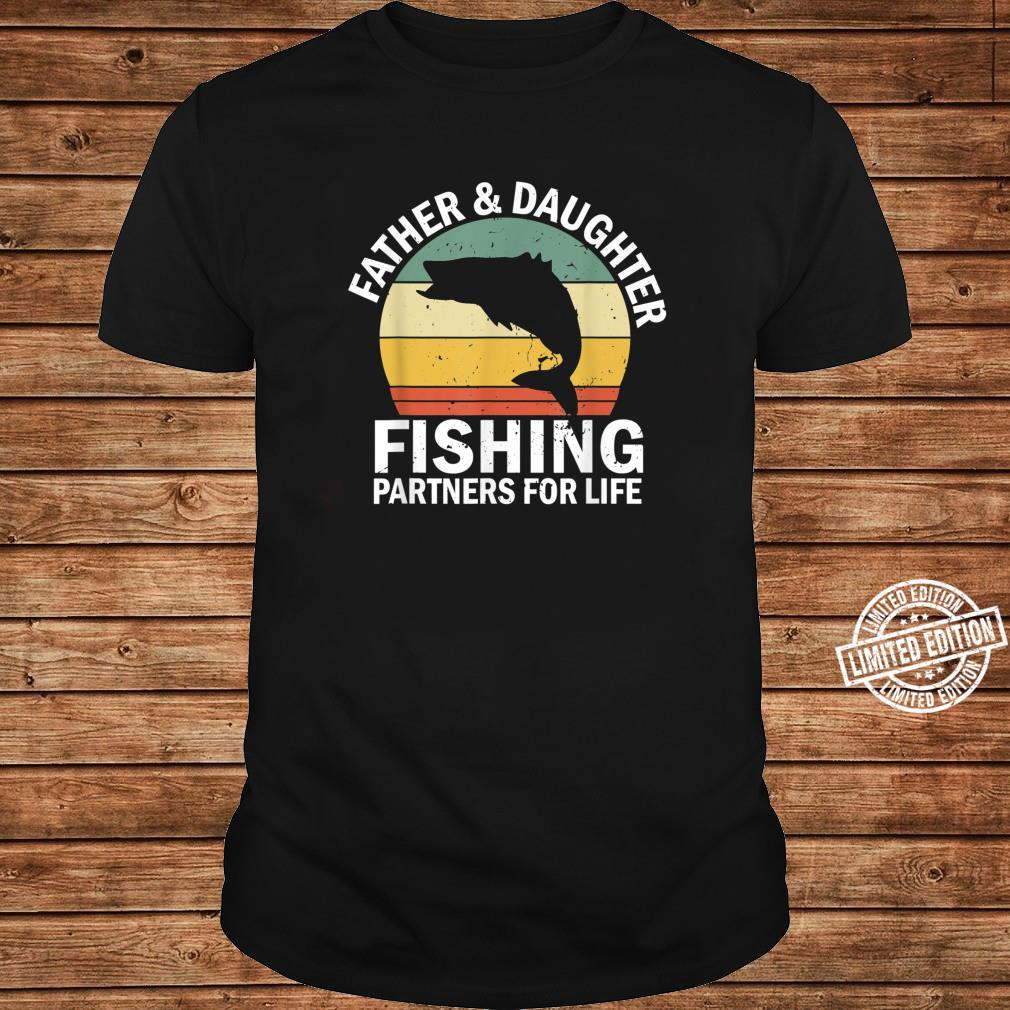 Mens Vintage Fisherman Dad and Daughter Fishing Partners For Life Shirt long sleeved