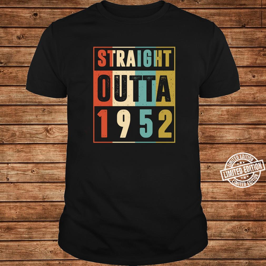 Straight Outta 1952 Vintage 69 Year Old 69th Birthday Shirt long sleeved
